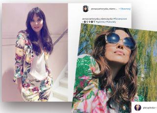 znane mamy noszą garnitury w kwiaty modny trend na Insta
