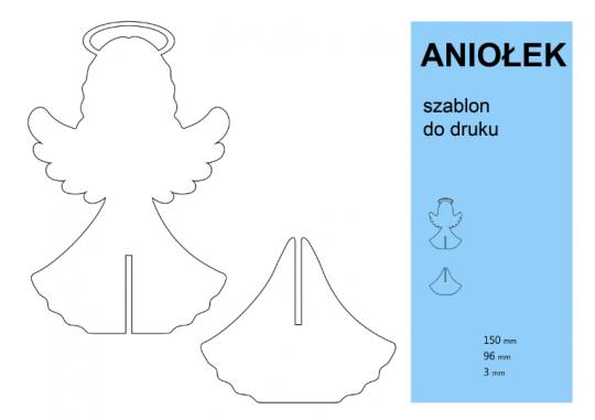 jak zrobić stojącego anioła z papieru szablon do druku 2