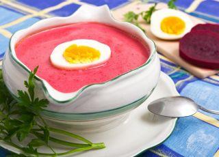 zupa, barszcz czerwony, jajko, potrawa, danie, kuchnia, jedzenie