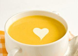 zupa, dynia, serce, walentynki