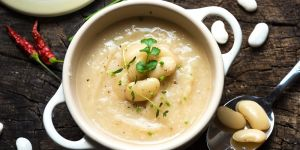 Zupa krem z białej fasoli