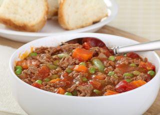 zupa, mięso mielone, warzywa, danie, potrawa, kuchnia