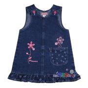Sukienka z jeansu z haftem i falbaną, 14036 marki Bartex - zdjęcie nr 1 - Bangla