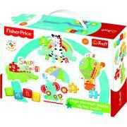 Trefl, Baby Classic, Puzzle Rainbow Forest marki Trefl - zdjęcie nr 1 - Bangla
