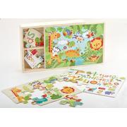 Fisher Price, Drewniane puzzle 3w1 marki Mattel - zdjęcie nr 1 - Bangla
