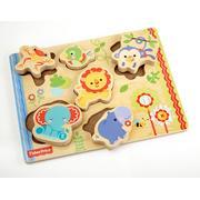 Fisher Price, Drewniane puzzle ze zwierzętami marki AD Global Brands Ltd. - zdjęcie nr 1 - Bangla
