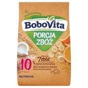 PORCJA ZBÓŻ mleczna 7 zbóż z płatkami kukurydzianymi banan-pomarańcza, kaszka marki BoboVita - zdjęcie nr 1 - Bangla
