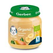 Gerber Organic, Gruszka, Banan - owocowy mus dla niemowląt marki Gerber - zdjęcie nr 1 - Bangla