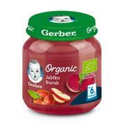 Gerber Organic, Jabłko Burak - owocowo-warzywny mus dla niemowląt marki Gerber - zdjęcie nr 1 - Bangla