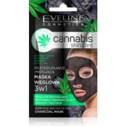 Oczyszczająco–matująca maska węglowa 3w1 Cannabis Skincare marki Eveline Cosmetics - zdjęcie nr 1 - Bangla