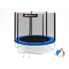 Trampolina Hop-Sport 10ft (305cm) niebieska z siatką zewnętrzną - 3 nogi marki Hop-Sport - zdjęcie nr 1 - Bangla