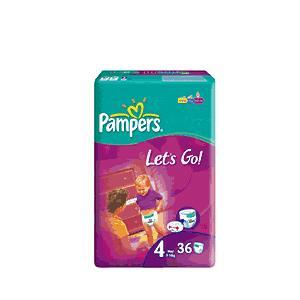 Pampers Let's Go 4, 5, 6 marki Pampers - zdjęcie nr 1 - Bangla