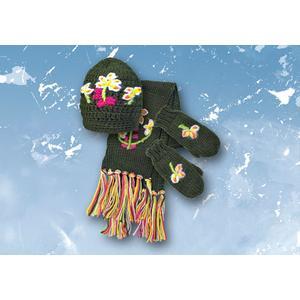 Komplet: czapka, rękawiczki i szalik Joyful marki Mariquita - zdjęcie nr 1 - Bangla