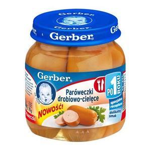 Paróweczki drobiowo-cielęce. Parówki dla dzieci marki Dania gotowe Gerber - zdjęcie nr 1 - Bangla