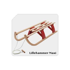 Drewniane sanki składane Lillehammer Maxi marki Hamax - zdjęcie nr 1 - Bangla