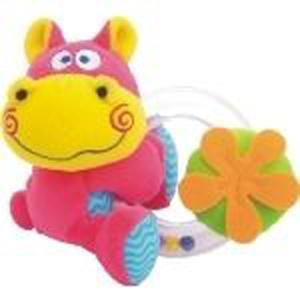 Grzechotka z plastikowym kółkiem - hipcio, słoń, lew marki Świat Pluszowych Zabawek - zdjęcie nr 1 - Bangla