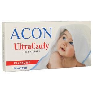 Test ciążowy płytkowy Ultra Czuły ACON 10mlU/ml marki Acon - zdjęcie nr 1 - Bangla