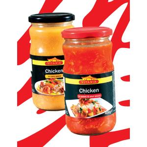 Vitasia, Chicken in curry sauce, Chicken in sweet-sour sauce marki Lidl - zdjęcie nr 1 - Bangla