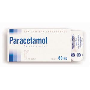 Paracetamol 80, 125, 250 lub 500 mg, czopki marki Hasco-Lek - zdjęcie nr 1 - Bangla