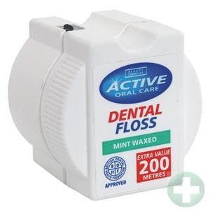 Active Oral Care, Dental Floss Mint Waxed, Nić dentystyczna woskowana miętowa marki Beauty Formulas - zdjęcie nr 1 - Bangla