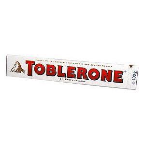Toblerone, Swiss white chocolate with honey and almond nougat, biała czekolada z miodem i kremem migdałowym marki Mondelez/Kraft Foods Group - zdjęcie nr 1 - Bangla