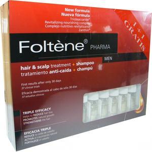 Hair and Scalp Treatment for Men, Kuracja i szampon przeciw wypadaniu włosów dla mężczyzn marki Foltene Pharma - zdjęcie nr 1 - Bangla