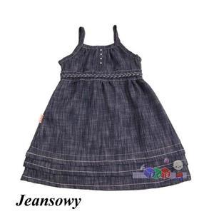 Jeansowa sukienka wiązana z tyłu, 14046 marki Aga - zdjęcie nr 1 - Bangla
