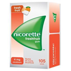 Nicorette FreshFruit Gum bez cukru 4 mg lub 2 mg marki Pfizer - zdjęcie nr 1 - Bangla
