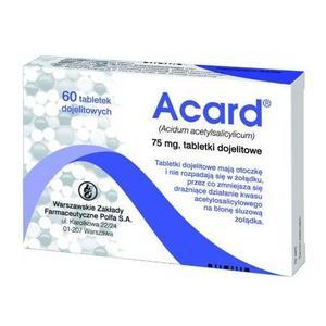 Acard, tabletki marki Polfa SA - zdjęcie nr 1 - Bangla