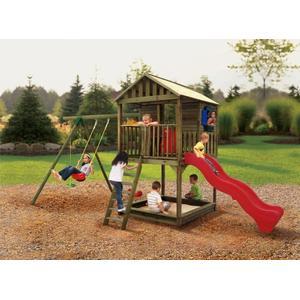 Drewniany plac zabaw Richmond, huśtawka, zjeżdżalnia, domek, 170942 marki Little Tikes - zdjęcie nr 1 - Bangla