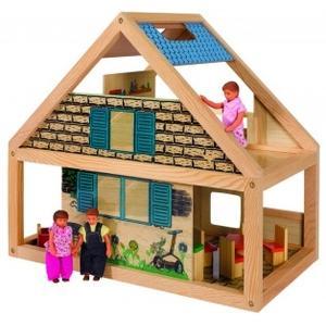 Drewniany domek wiejski dla lalek, 2526 marki Eichhorn - zdjęcie nr 1 - Bangla