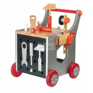 Warsztat z narzędziami wózek marki Janod - zdjęcie nr 1 - Bangla