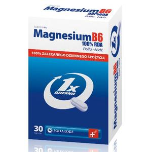 Magnesium B6 100% RDA marki Polfa Łódź - zdjęcie nr 1 - Bangla