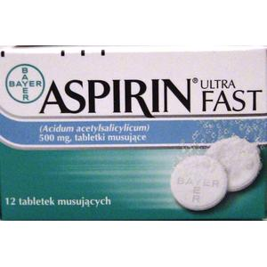 Aspirin Ultra Fast, tabletki musujące marki Bayer - zdjęcie nr 1 - Bangla