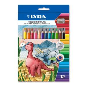 Kredki Szkolne, różna ilość kredek w komplecie - 12 lub 24 kredki marki Lyra - zdjęcie nr 1 - Bangla