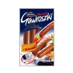 Gawroszki z serem i bekonem, kiełbaski marki Morliny - zdjęcie nr 1 - Bangla