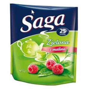 Zielona herbata z owocami lub z miętą, różne smaki marki Saga - zdjęcie nr 1 - Bangla