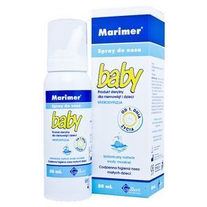 Marimer Baby spray do nosa Izotoniczny roztwór wody morskiej marki Gilbert - zdjęcie nr 1 - Bangla