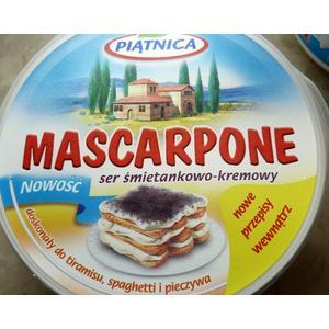 Mascarpone, Ser śmietankowo-kremowy marki Piątnica - zdjęcie nr 1 - Bangla