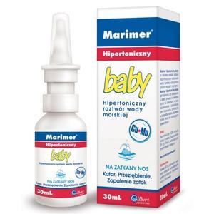 Marimer Baby, Hipertoniczny roztwór wody morskiej na zatkany nos marki Gilbert - zdjęcie nr 1 - Bangla