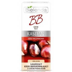 Kasztan, BB Krem 5 w 1, Łagodzący krem udoskonalający z lekkim podkładem do cery naczynkowej marki Bielenda - zdjęcie nr 1 - Bangla