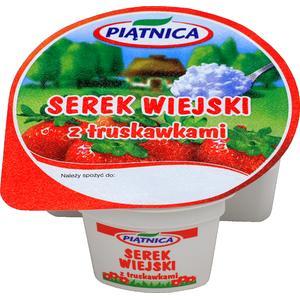 Serek wiejski z owocami, różne smaki marki Piątnica - zdjęcie nr 1 - Bangla