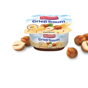 Gries Traum, Deser mleczny z kaszą manną, różne smaki marki Ehrmann - zdjęcie nr 1 - Bangla