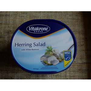 Vitakrone Herring Salad with White Beetroot - Sałatka śledziowa z burakami białymi ćwikłowymi cukrowymi marki Lidl - zdjęcie nr 1 - Bangla