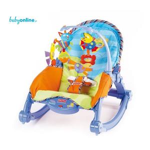 Fisher Price, Baby Gear, Leżaczek bujaczek 2w1 Rocker z wibracjami marki Mattel - zdjęcie nr 1 - Bangla