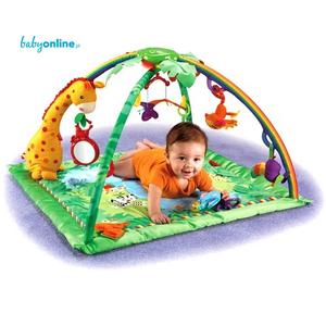 Fisher Price, Rainforest, Melodies & Lights Deluxe Gym (Mata edukacyjna K4562) marki Mattel - zdjęcie nr 1 - Bangla