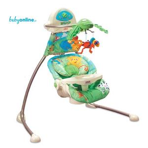 Fisher Price, Rainforest, Open-Top Cradle Swing (Huśtawka 6710) marki Mattel - zdjęcie nr 1 - Bangla