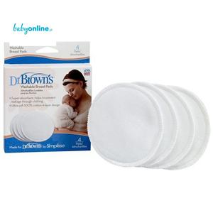 Dr. Brown`s, Wielorazowe wkładki laktacyjne marki Dr. Brown's - zdjęcie nr 1 - Bangla