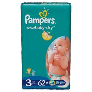 Pampers, Active Baby-Dry, Pieluszki Midi (4-9 kg) marki Pampers - zdjęcie nr 1 - Bangla