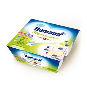 Humana, Deserek mleczny jabłkowo - jagodowy na bazie zsiadłego mleka marki Humana - zdjęcie nr 1 - Bangla